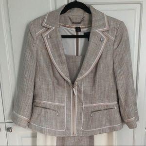 Tweed suit WHBM dress and jacket sz 14